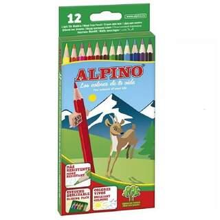 Alpino Uzun Kuru Boya Kalemi 12li