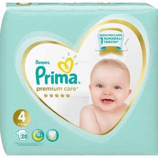 4 Numara Premium Care 28 Adet  Bebek Bezi (9-14 KG)