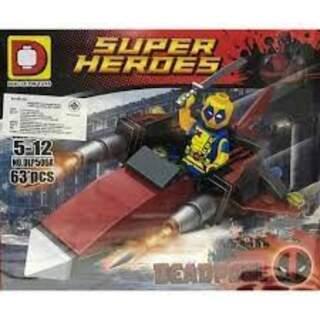 Super Heroes Deadpool 63 Pcs Blok