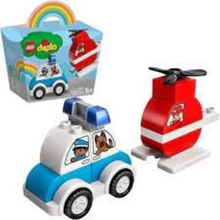 Lego Duplo Yangın Helikopteri Ve Polis Arabası