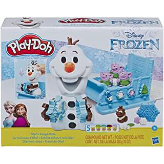 Play-Doh Dondurulmuş Olaf'ın Atlı Kızağı Turu
