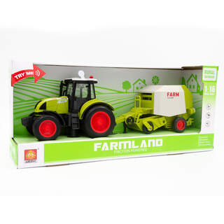 Farmland İttirmeli Sesli Dorseli Traktör