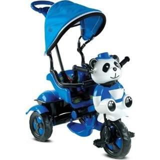 Panda 3 Teker Anne Kotrollü Bisiklet Mavi