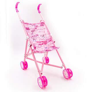 Desenli Oyuncak Bebek Arabası