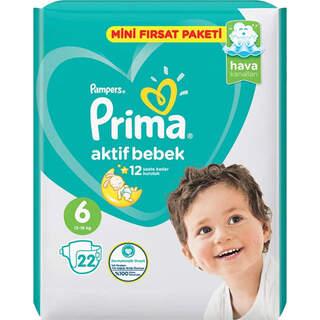 6 Numara Aktive Bebek  23 Adet Bezi(13 -16 KG)